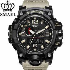 SMAEL Mens Sports Watch Dual Display Analog Digital LED Electronic Wristwatch