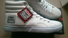 new SKATEBOARD WHITE vision street wear LEATHER HI trainers UK size 10