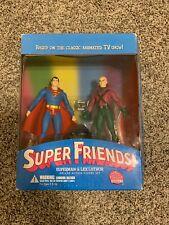 DC Direct Super Friends Superman & Lex Luthor Deluxe Action Figure Set - NEW!