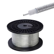 """10 feet RG402 .141"""" Semi Rigid Coaxial Cable with Tinned Copper Outer Conductor"""