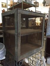 Vintage Large Hanging Meatsafe Meat Safe Cabinet Storage Mesh sides Farm Rustic