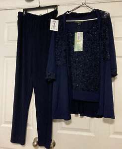 R & M RICHARDS NAVY 2 PIECE PANT SUIT MOTHER OF THE BRIDE/GROOM