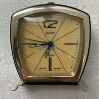 Vintage Rare USSR Soviet Table Clock Alarm 1957