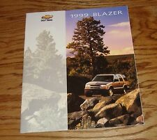 Original 1999 Chevrolet Blazer Sales Brochure 99 Chevy