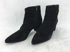 Stuart Weitzman Zepher Black Suede Ankle Boot Size 8.5M  RH12498#
