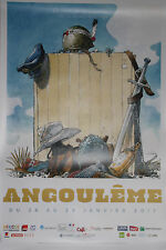 Festival d'Angoulême 2017 Affiche de Hermann Format 1,75m X 1,20m