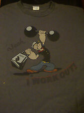 Ultra-Cool Popeye I Work Out T-Shirt, Size Xl, Nice Condition!