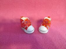 "2"" RED COLOR DOTS SNEAKERS SHOES FOR 10-11"" MEADOWS DOLLS PATTI TELLA BJD DOLL"