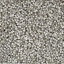 Toho Treasure Seed Beads 11/0 Metallic Frosted Silver TT-01-714F 7.8g (Q82/5)