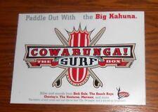 The Big Kahuna Cowabunga! The Surf Box Sticker Decal Rectangle Promo 7x5 RARE