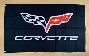 Chevy Corvette Logo 3x5 ft Flag Banner Car Racing