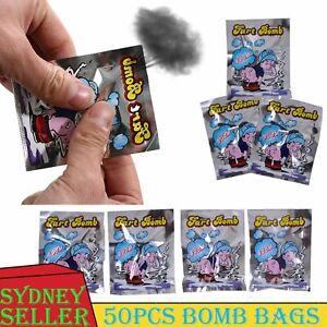 50x Fart Bomb Bags Smelly Nasty Stinky Gas Stink Bombs Prank Joke Gag Tricky AU