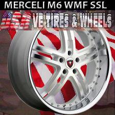MERCELI M6 20X8.5 5X120 WHITE MACHINE SSL BUICK LACROSSE CHEVY CAMARO  MALIBU