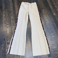 NOS Vtg 60s 70s Mens 29 TUXEDO Suit Pants POLYESTER Disco Bell Bottoms Tan Brown