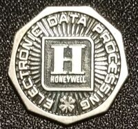 HONEYWELL ELECTRONIC DATA PROCESSING STERLING GOOD LUCK TOKEN MEDAL COIN