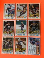 Lot of 9 Edmonton Oilers O-Pee-Chee Hockey Cards Gretzky Messier Kurri RC + MORE