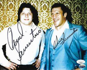 BRUNO SAMMARTINO & DAVID SAMMARTINO WWF WWE SIGNED AUTOGRAPH 8X10 PHOTO JSA COA