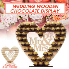 Wedding Centrepiece Chocolate Candy Stand Display Mr&Mrs Heart Tree For Ferrero