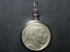 AUTHENTIC SOUTHWEST BEZEL SET 1936 BUFFALO NICKEL PENDANT COIN CHARM NECKLACE