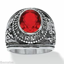 ARMY  RUBY STAINLESS STEEL  MILITARY RING ALL SIZES 8 9 10 11 12 13