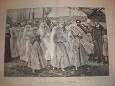The First Communion Dieppe P R Morris print 1879