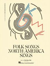 Folk Songs North America Sings Voice and Piano Vocal Collection NEW 050480904