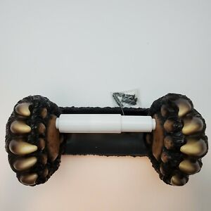 BLACK BEAR CLAWS WALL MOUNT  TOILET PAPER HOLER CABIN DECOR - NEW