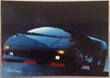 Lamborghini Diablo Postcard 1st On eBay Car Poster. Own It!