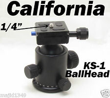 Metal KS-1 Ball Head Quick release Plate for Monopod Tripod Benro/Manfrotto KS1