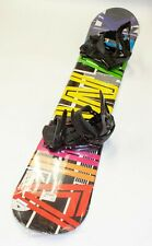 NEW $500 RARE Womens Airwalk Neon Snowboard & Black Firefly Bindings 155CM