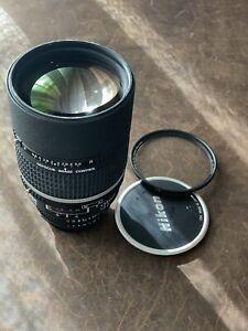 Nikon 135mm F2 DC Lens B+W UV MINT+++++++like New