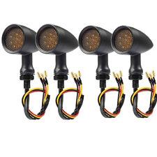 4x Amber Motorcycle Led Turn Signal Lights For Kawasaki Vulcan Vn 500 1000 1700(Fits: Mastiff)