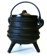 Spiral Incense Cauldron Black Cast Iron Smudging-Charcoal-Resin-incense Cones
