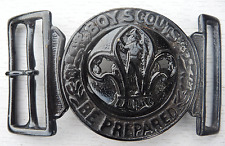 BOY SCOUTS BELT BUCKLE VINTAGE OFFICIAL BRITISH PATTERN - BOY SCOUTS BE PREPARED