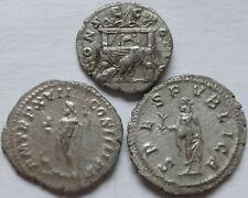 Lot of three Roman Silver Denarius.     475