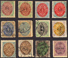Danish West Indies #5-15 1874-79 Nice Mint and Used Lot