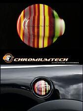 MK2 MINI COOPER S/SD JCW R55 R56 Hatch Multi Colore Stripe Serbatoio Tappo Di Copertura