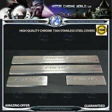 FORD FOCUS CHROME ENGRAVED DOOR SILL COVERS HIGH QUALITY 5Y GUARANTEE 11-15