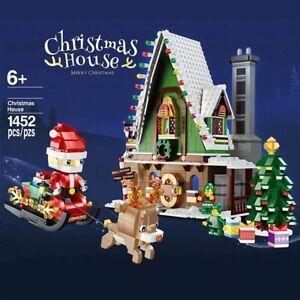 1452PCS WINTER Snow House Santa Claus Building BLOCKS Christmas Tree TOYS Gifts