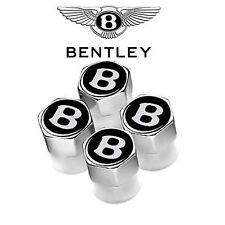 Chrome Bentley Black Wheel Valve Caps Continental Turbo Brooklands Azure Arnage