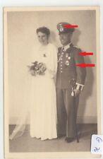 3083, Atelier Fotokarte Gebirgsjäger zur Hochzeit viele Orden, Edelweis !