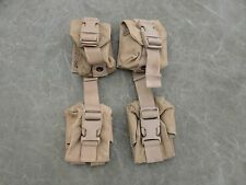 USMC MOLLE II Hand Grenade Pouches, Coyote Brown Lot of four (4) Very Good