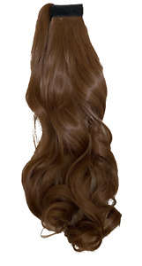 """Light Brown Wavy Long Synthetic Ponytail 17"""""""