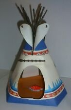 PLAYMOBIL 5247 INDIAN TEE PEE BLUE/CREME w/EAGLE- COMPLETE - EXCELLENT!