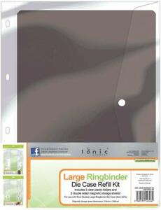 Tonic Studios Large A4 Ringbinder Die Case Refill Kit Magnetic Storage 348e