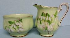 Royal Albert Vintage Laurentian Snowdrop Cream and Sugar Bowl Set EUC