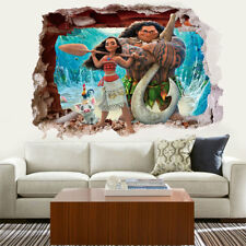 Moana 3D Cartoon Waterproof Wall Stickers Bedroom Living Room Decor Art Kids