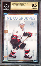 2002-03 SP GAME USED JASON SPEZZA #82 BGS 9.5 GEM MINT RC ROOKIE CARD OLD LABEL