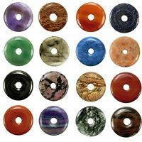 Edelstein Donut Anhänger Ø 40 mm PI Stein große Auswahl