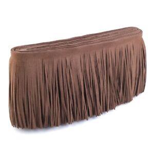 Faux Leather Suede Tassel Fringe 145mm x 1M Trim DIY Bag Clothing Sewing Charm
